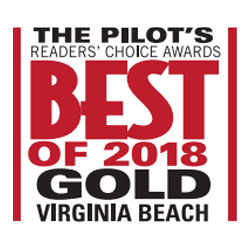 picture of award for 2018 Best of Gold Virginia Beach